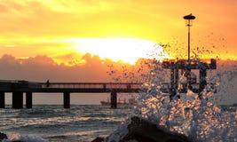 Lever de soleil à la plage Photos libres de droits