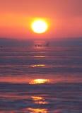 Lever de soleil à la plage Photo stock