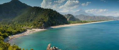 Lever de soleil à la plage d'Olympos, Antalya, Turquie Images stock