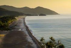 Lever de soleil à la plage d'Olympos, Antalya, Turquie Images libres de droits