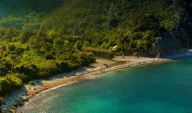 Lever de soleil à la plage d'Olympos, Antalya, Turquie Photo libre de droits