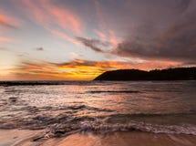 Lever de soleil à la plage de Moloa'a, Kauai, Hawaï photo libre de droits