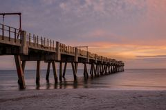 Lever de soleil à la plage en Floride Image stock