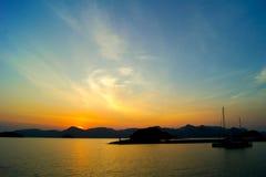 Lever de soleil à Langkawi chez la Malaisie Images libres de droits