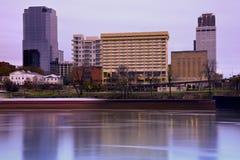 Lever de soleil à Little Rock, Arkansas. Images libres de droits