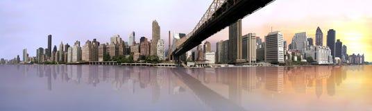 Lever de soleil à Manhattan Image libre de droits