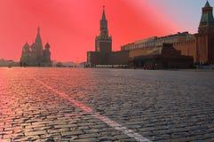 Lever de soleil à Moscou photo libre de droits