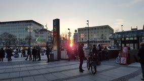 Lever de soleil à Munich Photographie stock libre de droits