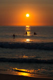 Lever de soleil à OC Photo libre de droits