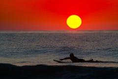 Lever de soleil à OC Images stock