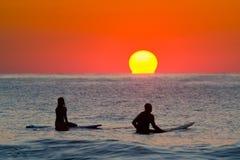 Lever de soleil à OC Photographie stock libre de droits
