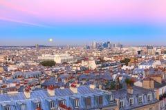 Lever de soleil à Paris, France photographie stock
