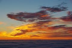 Lever de soleil à partir de dessus Photo libre de droits
