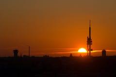 Lever de soleil à Prague Image libre de droits
