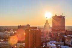 Lever de soleil à Winston-Salem du centre, OR Photos libres de droits