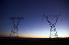 Lever de soleil électrique Photos libres de droits