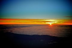 Lever de soleil étonnant de ciel Photographie stock libre de droits