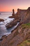 Lever de soleil étonnant de paysage marin photos stock