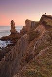 Lever de soleil étonnant de paysage marin photos libres de droits