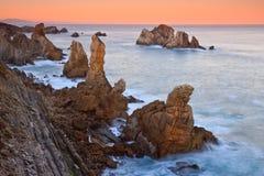 Lever de soleil étonnant de paysage marin image libre de droits