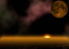 Lever de soleil étranger au-dessus d'océan photos stock