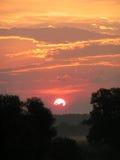 Lever de soleil. Images libres de droits