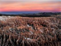lever de soleil #2 de l'hiver de gorge de bryce Images libres de droits