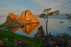 Lever de soleil 2 de roche de Shaman Image libre de droits