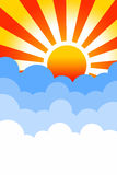 Lever de soleil illustration stock