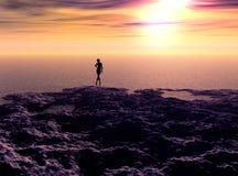 Lever de soleil 3 Image libre de droits