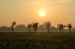 Lever de soleil Images libres de droits