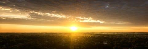 Lever de soleil aérien au-dessus du Dakota du Sud photo stock