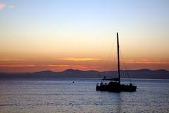 Lever de soleil, Abel Tasman, Nouvelle Zélande Photo libre de droits