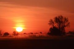Lever de soleil africain Images libres de droits