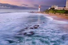 Lever de soleil Afrique du Sud de phare Images stock