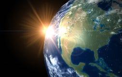 Lever de soleil Amérique de l'espace Photographie stock
