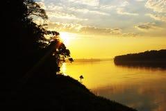 Lever de soleil amazonien Photo stock