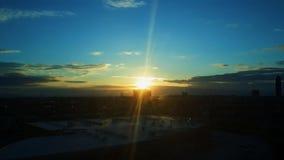 Lever de soleil après ville Photographie stock libre de droits
