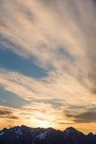 Lever de soleil au bâti Shuksan Photo stock