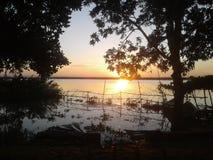 LEVER DE SOLEIL AU BANGLADESH photo stock