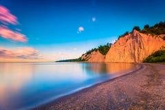 Lever de soleil au bluff Canada de Scarborough photo libre de droits