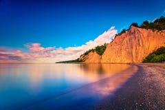 Lever de soleil au bluff Canada de Scarborough photographie stock