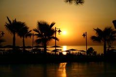 Lever de soleil au bord de la mer Photographie stock