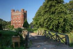 Lever de soleil au château de Tattershall Photos stock