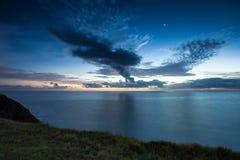 Lever de soleil au compartiment de Byron Image libre de droits