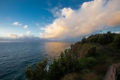 Lever de soleil au compartiment de Byron Images stock