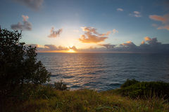 Lever de soleil au compartiment de Byron images libres de droits