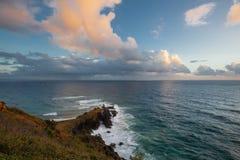 Lever de soleil au compartiment de Byron photographie stock