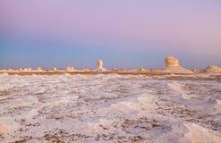 Lever de soleil au désert blanc, Egypte photographie stock libre de droits