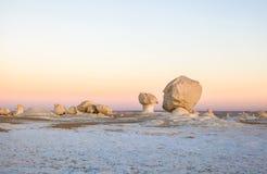 Lever de soleil au désert blanc, Egypte image stock